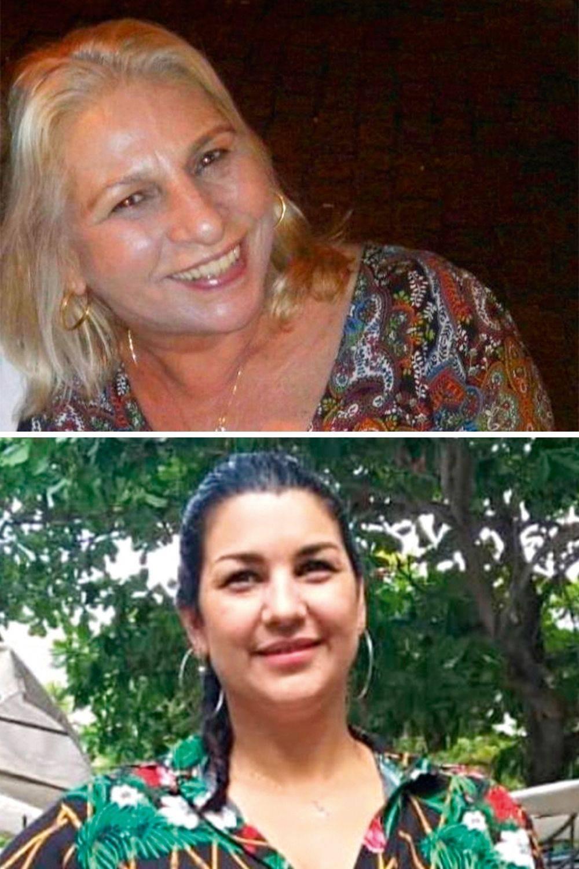 Raimunda e Danielle, respectivamente, mãe e ex-mulher do policial