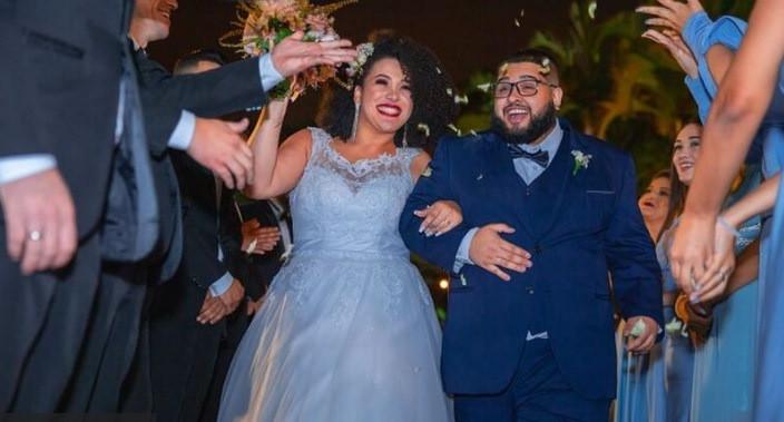 Kathleen e Victor no casamento