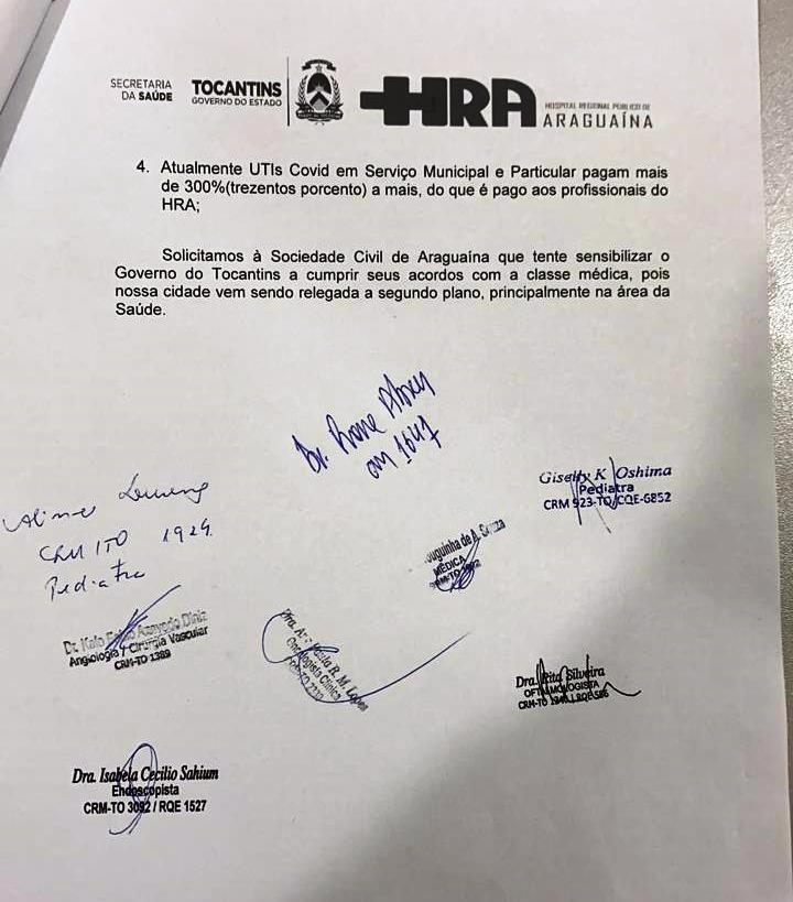 Carta aberta à população de Araguaína